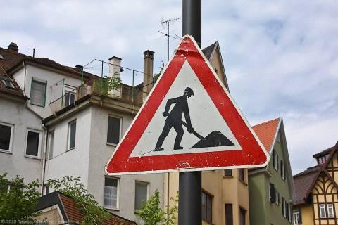 Таблички и знаки «Дорожные работы»