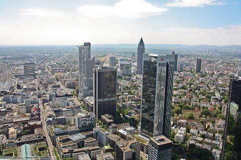 Франкфурт с двухсот метров