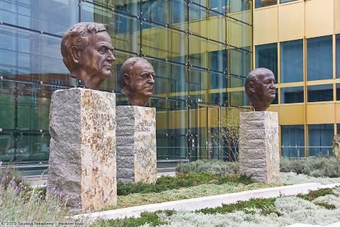 Михаил Горбачёв, Гельмут Коль и Джордж Буш