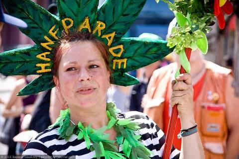 Парад за легализацию наркотиков в Берлине