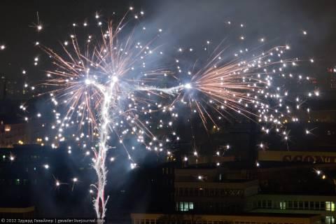 Новогодние фонтаны искр