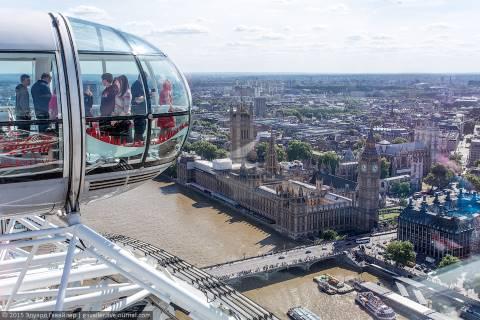 Лондонский глаз — самое высокий аттракцион в Европе