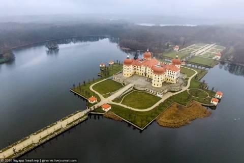 Охотничий замок и кирпичный виадук в Саксонии