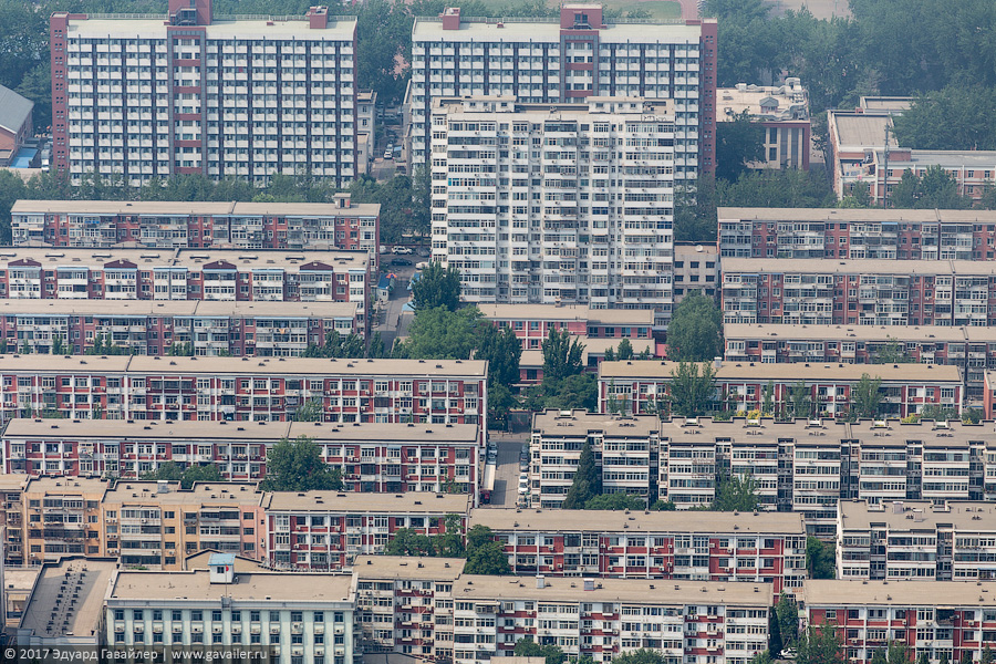 Пекин с двух высот
