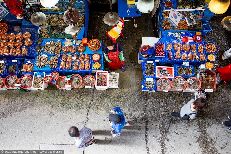 Рыбный рынок и городской парк в Сеуле