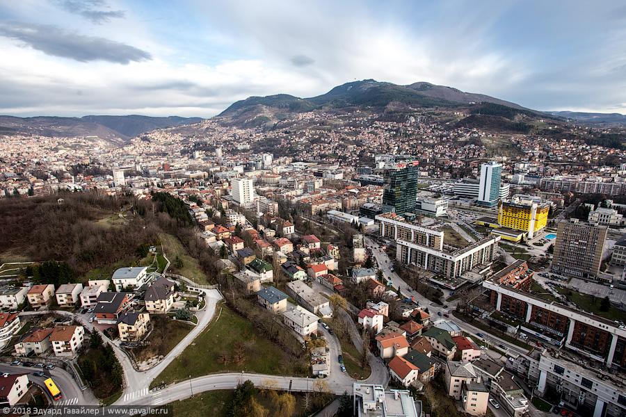Сараево с самого высокого здания в стране