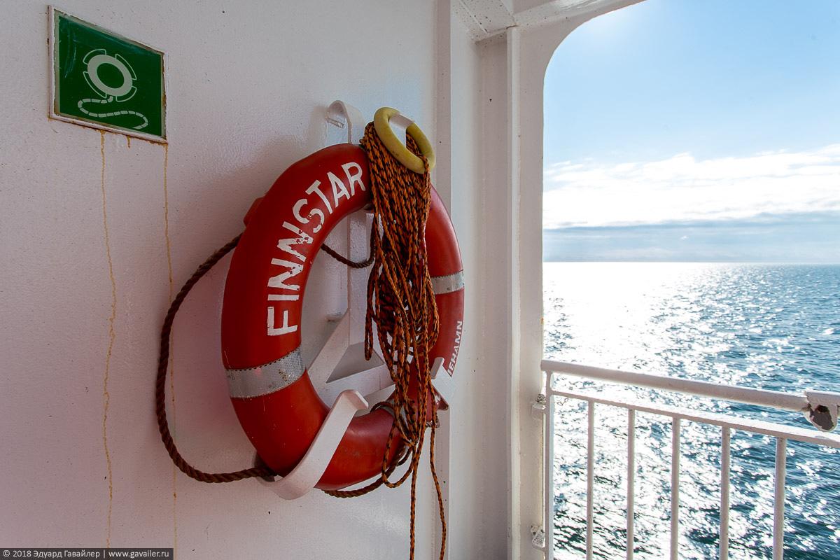 В отпуск из Германии в Россию на машине с Finnlines финляндия