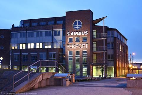 Завод Эйрбас в Гамбурге