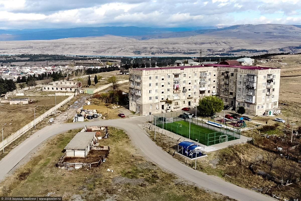 Жилые дома на горе Махата в черте города Тбилиси