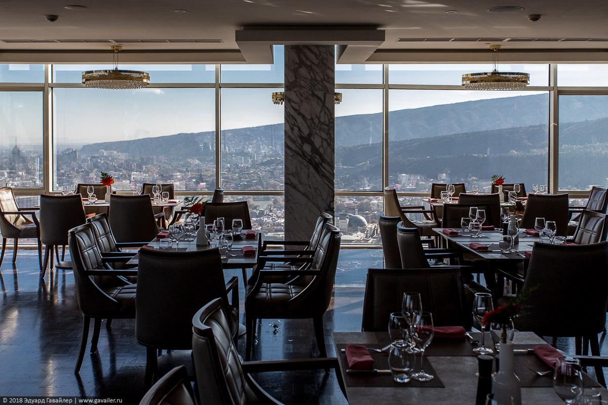 Xeme ресторан на 31 этаже The Biltmore Hotel Tbilisi
