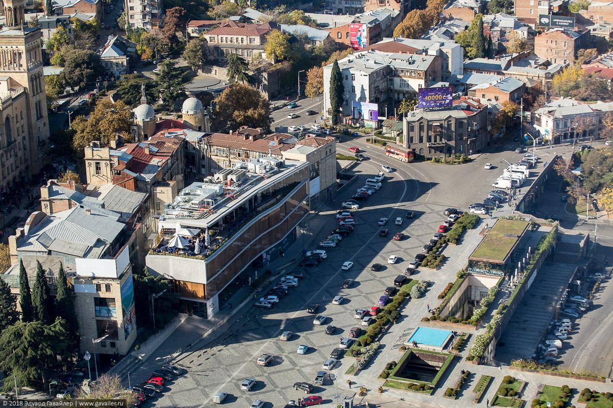 Улицы Тбилиси с воздуха
