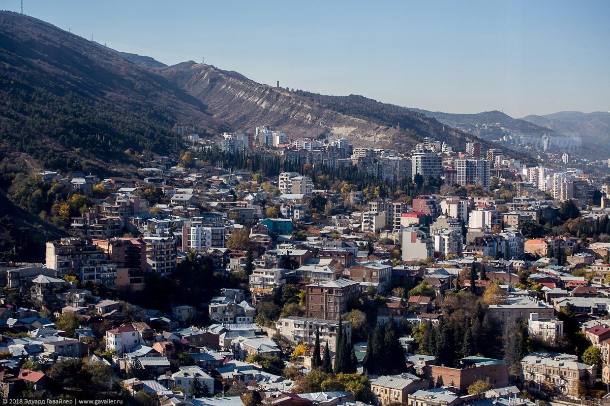 Старый район Тбилиси с высоты птичьего полета