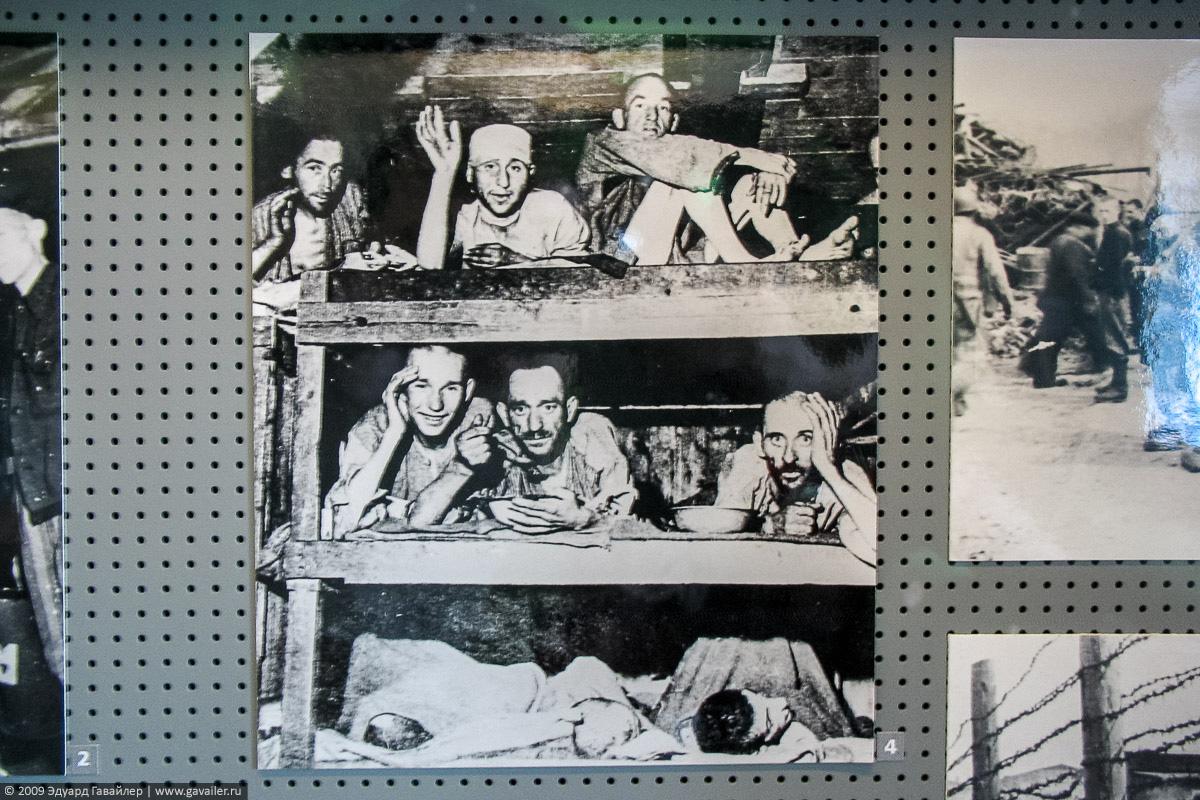 Узники в концлагере Бухенвальд