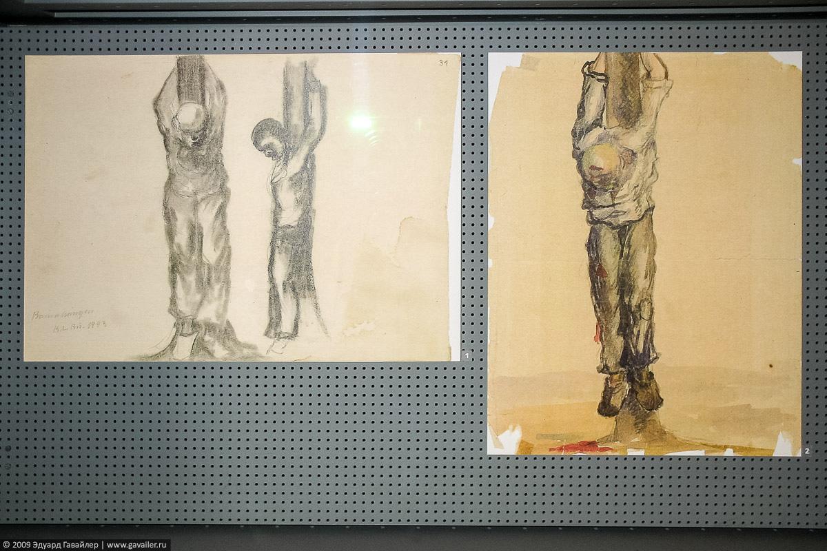 Рисунки узников концлагеря Бухенвальд