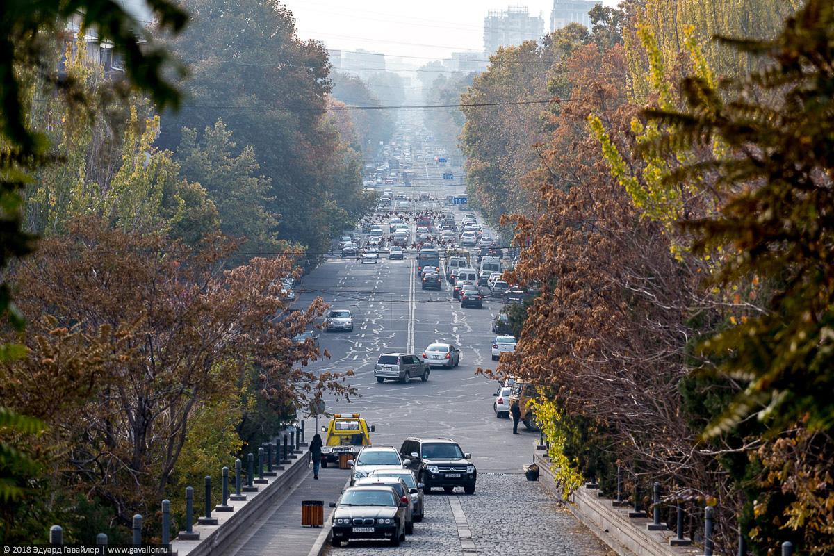 Вид на улицу в Ереване