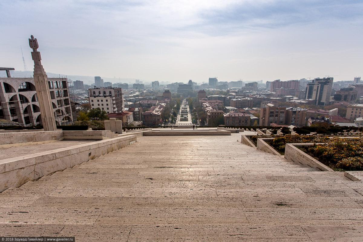 Вид на Ереван с Каскада