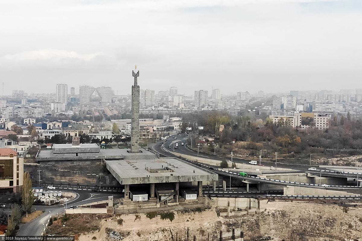 Каскад с воздуха в Ереване
