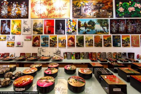 Лаковые изделия и музей женщин в Ханое