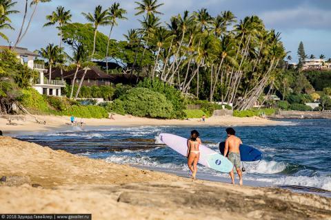Гонолулу: пляжи, океан, шака, поке, Вайкики
