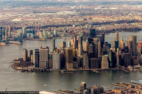Очаровательный Нью-Йорк с воздуха